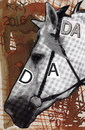 Cartoon: 1916 DADA 2016 Hundred years (small) by Kestutis tagged dada,postcard,liner,horse,art,kunst,kestutis,lithuania
