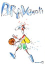 Cartoon: Basketball Air King. Wings (small) by Kestutis tagged basketball,air,king,sport,kestutis,lithuania,wings,bravo,fan,flügeln