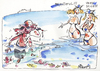 Cartoon: BEACH ADVENTURE (small) by Kestutis tagged cap,jellyfish,happening,qualle,sea,beach,adventure,help,beautiful,very,nice,man,woman