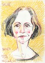 Cartoon: Birute Mar (small) by Kestutis tagged sketch,kestutis,lithuania,actress