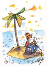 Cartoon: DILIGENT PIRATE (small) by Kestutis tagged diligent pirate desert strip comic island kestutis siaulytis lithuania hat adventure