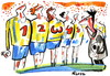 Cartoon: FOOTBALL. PROVOCATION (small) by Kestutis tagged football soccer sport numerology fossball 2012 euro fußball provocation referee