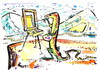 Cartoon: LIZARD ART (small) by Kestutis tagged künstler artist eidechse painter maler