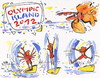 Cartoon: OLYMPIC ISLAND. Gymnastics (small) by Kestutis tagged gymnastics,bird,vogel,olympic,island,london,2012,summer,tourists,sport,desert,kestutis,siaulytis,lithuania,ocean,palm,penguin,comic,comics,insel,athletics,strip,iceberg