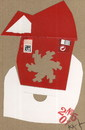 Cartoon: Santa Claus.Ready-made otherwise (small) by Kestutis tagged liner,dada,postcard,kestutis,lithuania,readymade,christmas,art,kunst,santaclaus