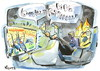 Cartoon: VIVA FOOTBALL (small) by Kestutis tagged foot football soccer book tv 2012 fussball euro goal fans fußball