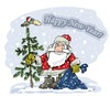 Cartoon: Happy New Year! (small) by krutikof tagged new,year,holiday,tree,postcard,greeting,gift
