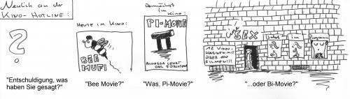 Cartoon: Bee Movie? (medium) by al_sub tagged bee,movie,film,misunderstanding,missverständnis