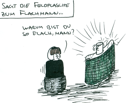 Cartoon: Flachmann (medium) by al_sub tagged flachmann,feldflasche,wortspiel