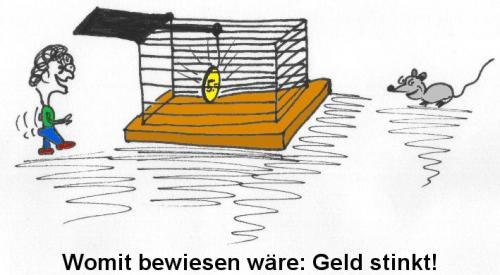 Cartoon: Geld stinkt (medium) by al_sub tagged money,stinks,mouse,trap,falle,geld,maus
