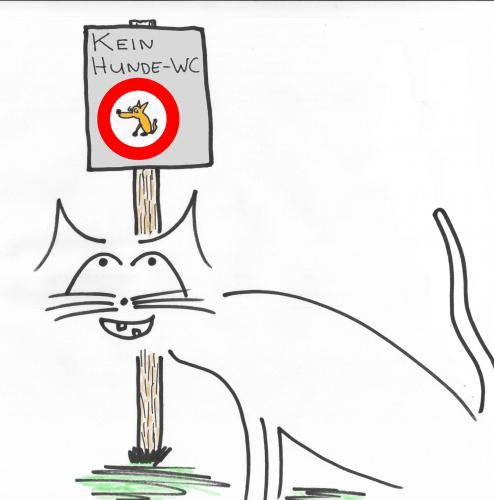 Cartoon: Kein HundeWC (medium) by al_sub tagged hunde,wc,katzen