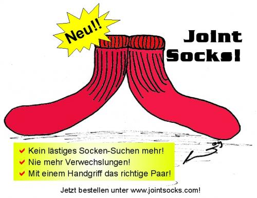 Cartoon: New! Joint Socks! (medium) by al_sub tagged socks,wear,clothing