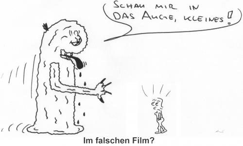 Cartoon: Schau mir in das Auge kleines! (medium) by al_sub tagged movie,film,klassiker