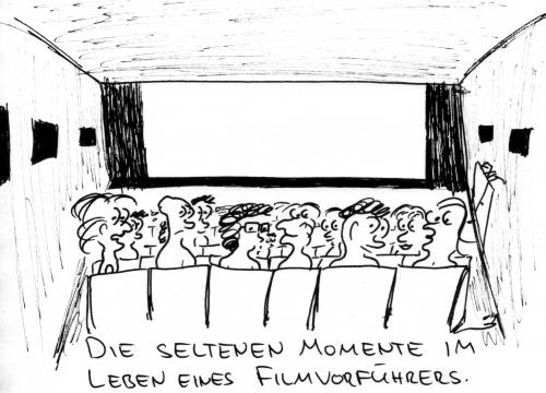 Cartoon: Seltene Momente (medium) by al_sub tagged cinema,operator,panne