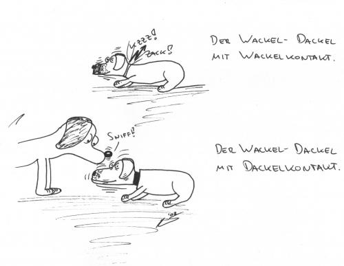 Cartoon: Wackeldackel (medium) by al_sub tagged wackel,dackel