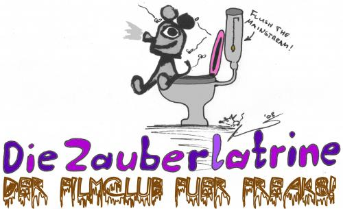 Cartoon: Zauberlatrine (medium) by al_sub tagged zauberlaterne,zauberlatrine,wortspiel