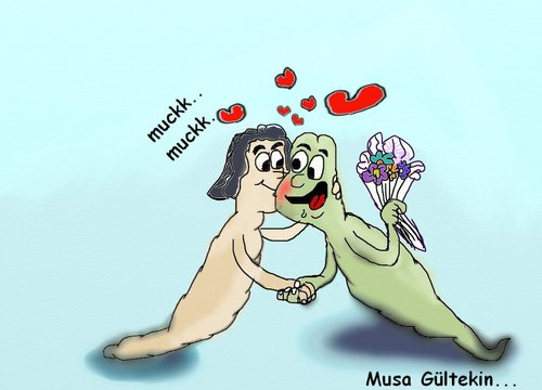 Cartoon: apple has established elmakurdu (medium) by musa gültekin tagged heart,flower,kisses,elmakurdu,applehasestablished