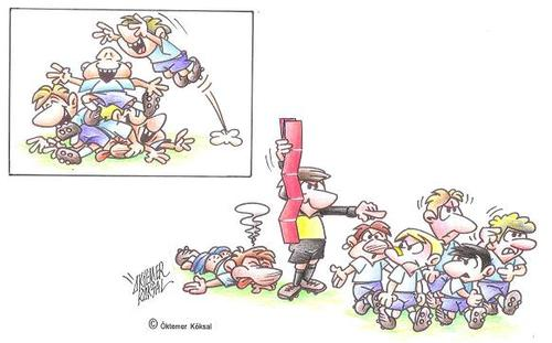 Cartoon: Sport-Wette (medium) by okoksal tagged sport,02