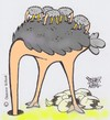 Cartoon: Strausen (small) by okoksal tagged koeksal