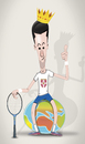 Cartoon: Novak Djokovic (small) by StajevskiArt tagged novak,djokovic