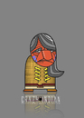 Cartoon: Two Strikes (small) by StajevskiArt tagged crazy,indian