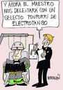 Cartoon: ELECTROTANGO (small) by HCATALAN tagged tango,amor,musica