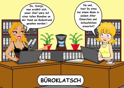 Buroklatsch Von Riwitoons Medien Kultur Cartoon Toonpool