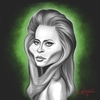 Cartoon: Faye Dunaway (small) by Dante tagged celebrity actress female model faye dunaway caricature famous babe