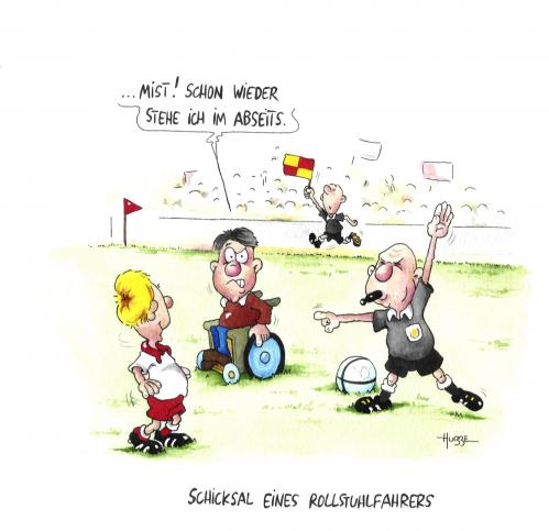 Cartoon: abseits (medium) by ms rainer tagged rolli,fußball,sport,