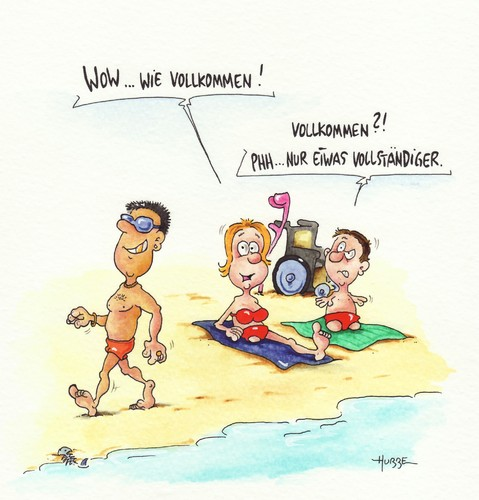 Cartoon strand medium by ms rainer tagged strand behinderung urlaub