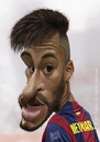 Cartoon: Neymar da Silva Santos Junior (small) by arez tagged caricature barca fcb neymar karikatur brasil brazil