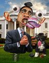 Cartoon: Presidential Malfunction (small) by RodneyPike tagged barack,obama,caricature,illustration,rwpike,rodney,pike