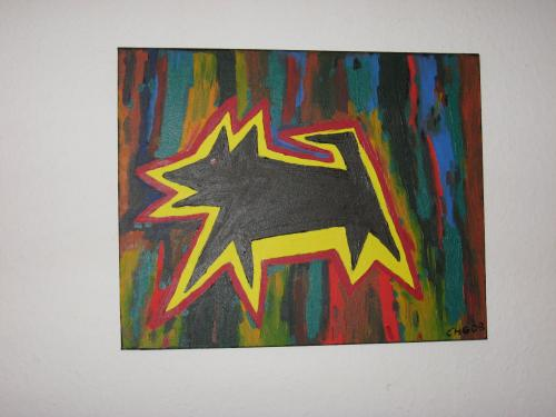 Cartoon: Hund-Dog (medium) by comic-chris tagged acryl