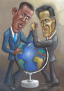 Cartoon: Fight over the world (small) by luka tagged president