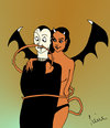 Cartoon: Der längste... (small) by Pierre tagged jungs böse mädchen bad girl eros erotik