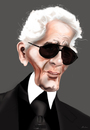 Cartoon: Karl Lagerfeld (small) by KryCha tagged karl,lagerfeld,mode,design,karikatur,cartoon,caricature,modeschöpfer