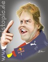 Cartoon: Sebastian Vettel (small) by KryCha tagged sebastian,vettel,weltmeister,formel1,formula1,worldchampion,red,bull