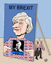 Cartoon: Brexit (small) by Vejo tagged may,brexit,uk,eu,leave,remain