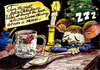 Cartoon: Mouse not stirring (small) by Alan tagged stirring,mouse,christmas,night,spoon,cup,candle,maus
