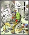 Cartoon: Bad working conditions (small) by deleuran tagged health,environment,work,milieu,