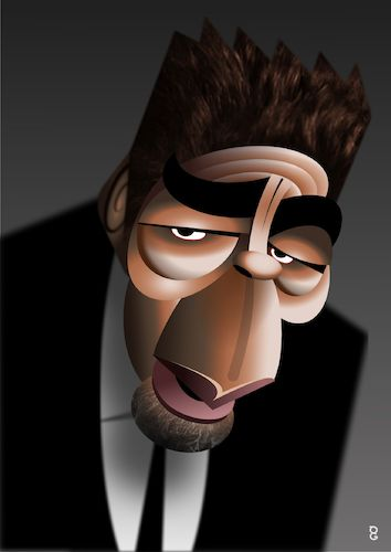 Cartoon: Benicio Del Toro (medium) by spot_on_george tagged benicio,del,toro,caricature,vector,holywood,actor