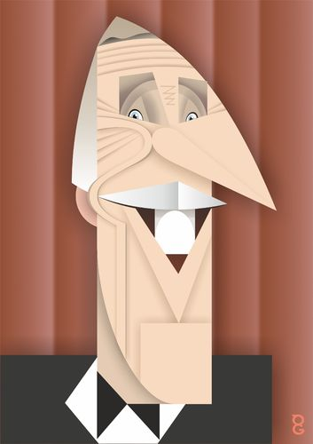 Cartoon: Bruce Forsyth (medium) by spot_on_george tagged bruce,forsyth,caricature,rip