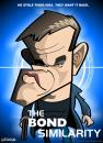 Cartoon: Bourne Supremacy (small) by spot_on_george tagged jason,bourne,matt,damon,caricature