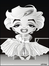 Cartoon: Marilyn Monroe (small) by spot_on_george tagged marilyn,monroe,caricature,ballerina