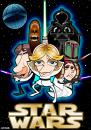 Cartoon: Star Wars (small) by spot_on_george tagged star,wars,jedi,darth,vader,wooky,luke,skywalker,caricature
