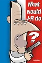 Cartoon: WWJRD? (small) by spot_on_george tagged jean reno caricature