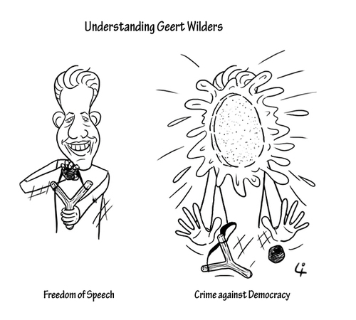 Cartoon: Understanding Geert Wilders (medium) by elke lichtmann tagged geert,wilders