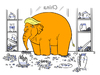 Cartoon: Eletrump (small) by elke lichtmann tagged donald,trump,elephant,elefant,eletrump,china,shop,im,porzellanladen