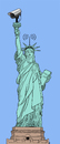 Cartoon: Relaunched Statue of Liberty (small) by elke lichtmann tagged statue,of,liberty,prism,surveillance,internet,spy,data,protection,act