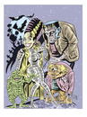 Cartoon: Classic Monsters (small) by McDermott tagged frankenstein,brideoffrankenstein,igor,classic,horror,scary,moviee,tv,animation,mcdermott